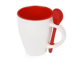 Кружка Авеленго с ложкой, красный