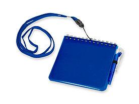 Блокнот А6 Журналист с ручкой, синий
