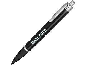 Ручка пластиковая шариковая Glow с подсветкой, черный/серебристый