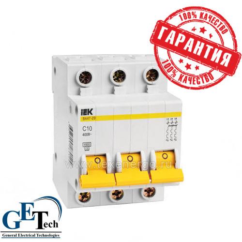 Выключатель автоматический ВА47-29 3р (3ф) 50А IEK