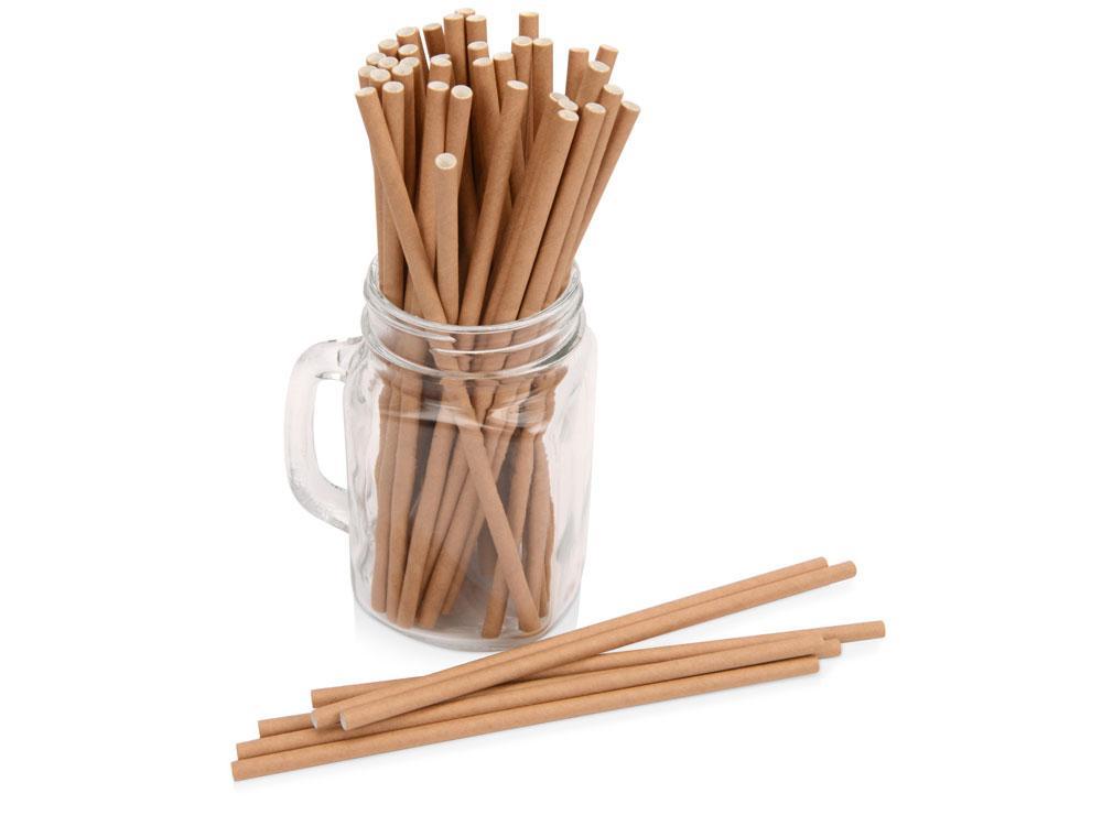 Набор крафтовых трубочек Kraft straw, 100 шт.