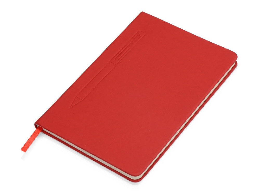 Блокнот А5 Magnet 14,3*21 с магнитным держателем для ручки, красный