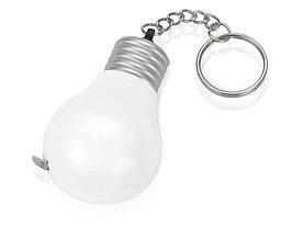 Брелок-рулетка для ключей Лампочка, белый/серебристый