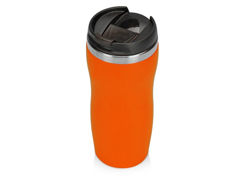 Термокружка Mony Steel 350 мл, soft touch, оранжевый
