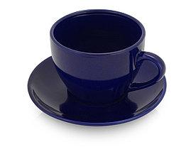 Чайная пара Гленрок, 220мл, темно-синий (Р)