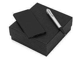 Подарочный набор Beam of Light с ручкой и зарядным устройством, серебристый