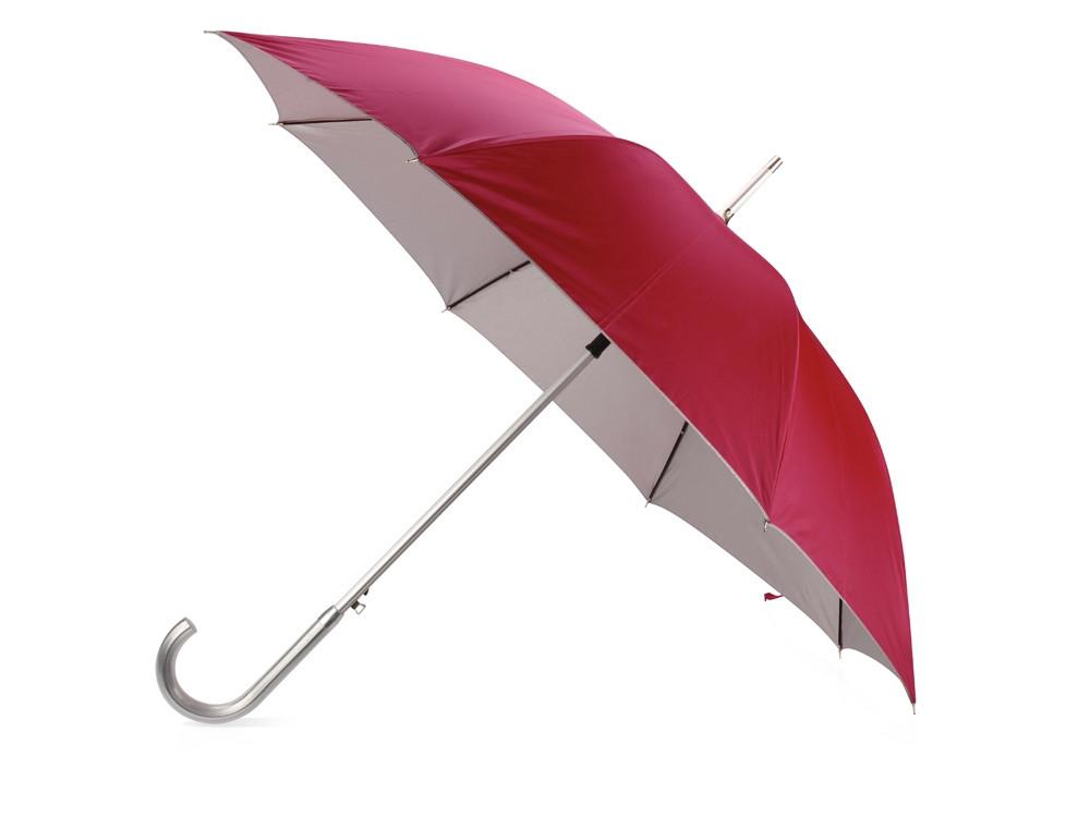 Зонт-трость полуавтомат Майорка, красный/серебристый (Р)