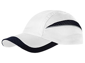 Бейсболка Qualifier 6-ти панельная, белый/темно-синий