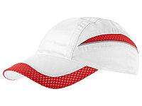 Бейсболка Qualifier 6-ти панельная, белый/красный