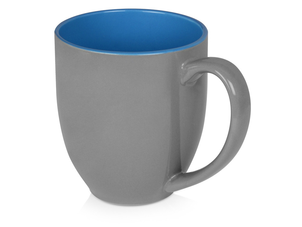 Кружка керамическая Gracy 470мл, серый/голубой