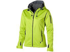 Куртка софтшел Match женская, св.зеленый/серый