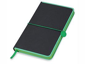 Блокнот Color Rim, черный/зеленый. Lettertone