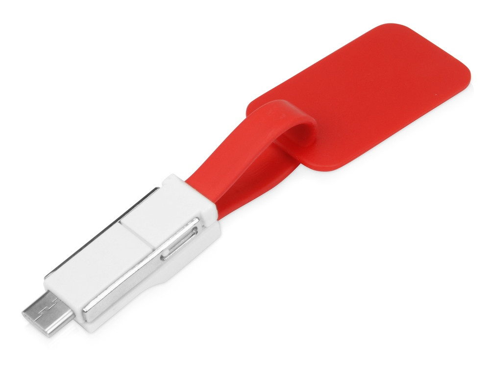 Зарядный кабель 3-в-1 Charge-it, красный