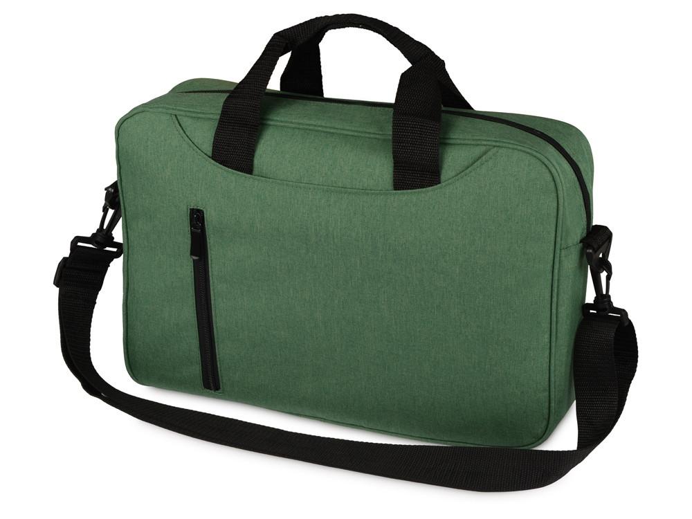 Сумка для ноутбука Wing с вертикальным наружным карманом, зеленый