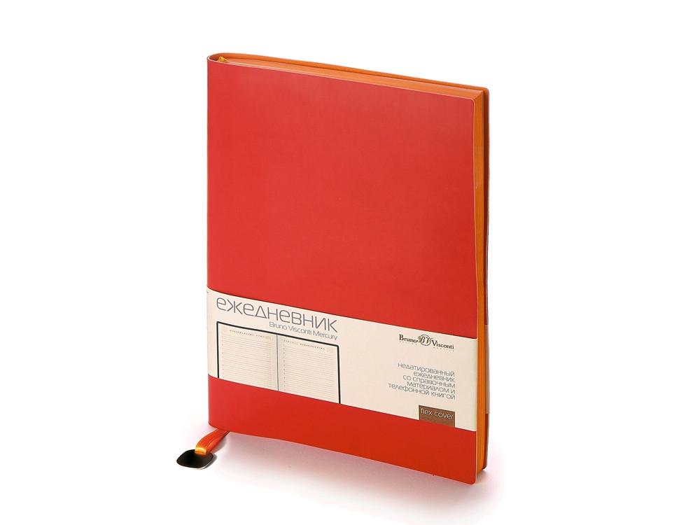 Ежедневник А5 недатированный Mercury, красный