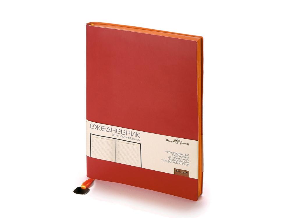 Ежедневник А5 недатированный Mercury, бордовый