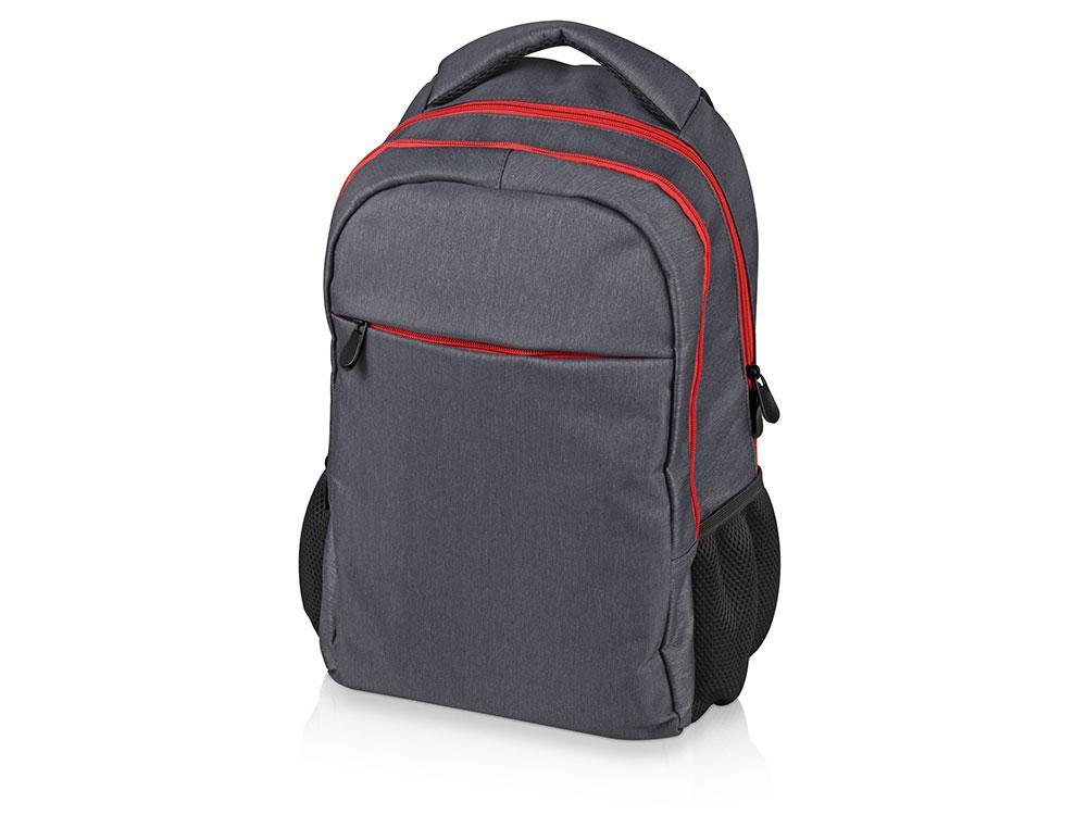 Рюкзак Metropolitan, серый с красной молнией и красной подкладкой