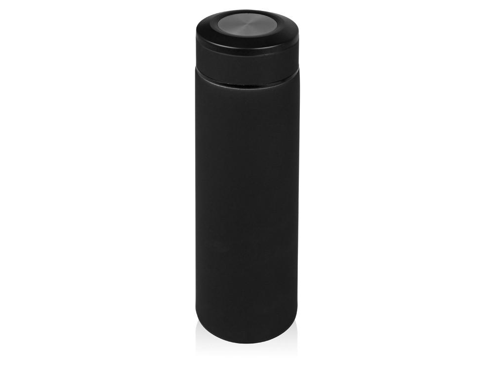 Термос Confident с покрытием soft-touch 420мл, черный