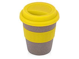 Стакан с силиконовой крышкой Café, желтый