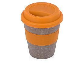 Стакан с силиконовой крышкой Café, оранжевый