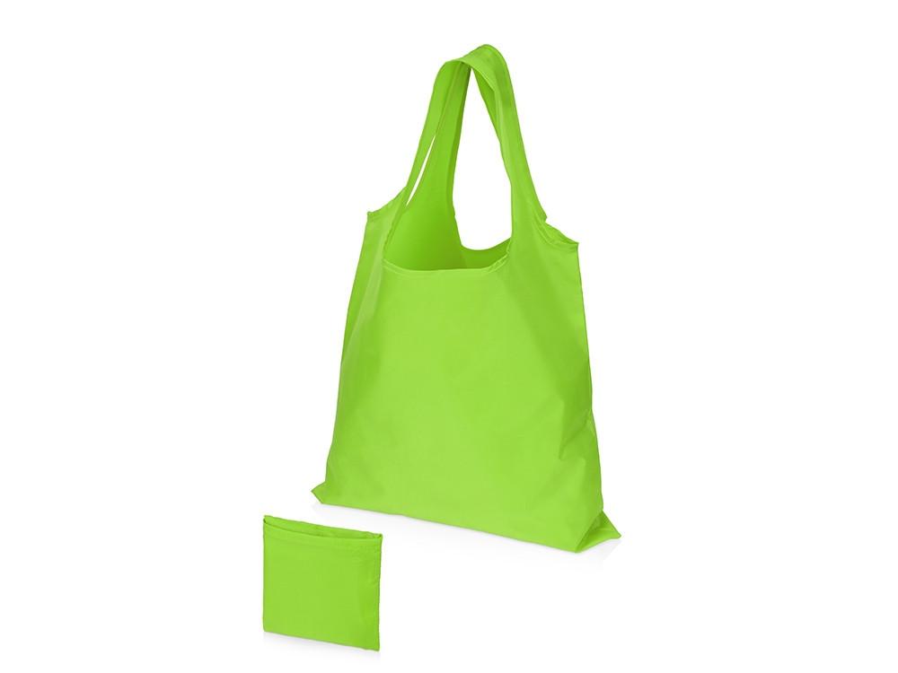 Складная сумка Reviver из переработанного пластика, зеленое яблоко