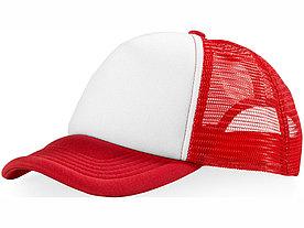 Бейсболка Trucker, красный/белый