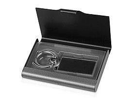 Набор Slip: визитница, держатель для телефона, серый/черный