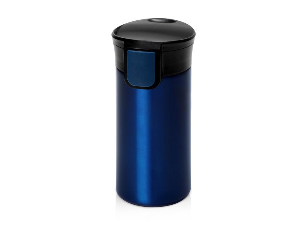 Вакуумная термокружка с кнопкой Upgrade, Waterline, темно-синий