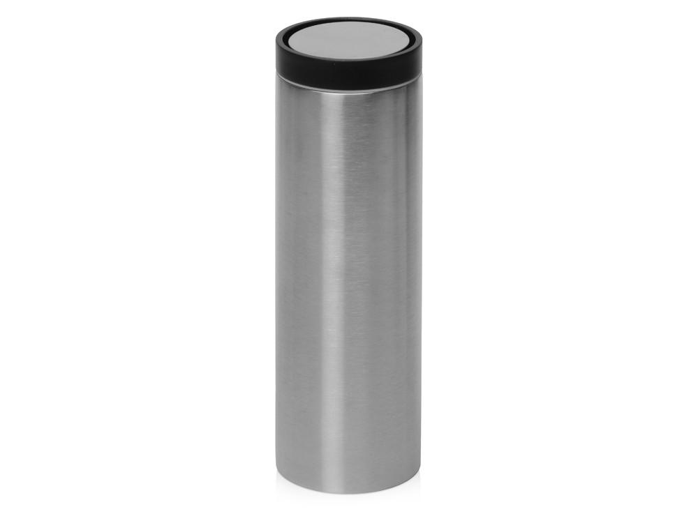 Вакуумная термокружка Noble с крышкой 360°,Waterline, серебристый