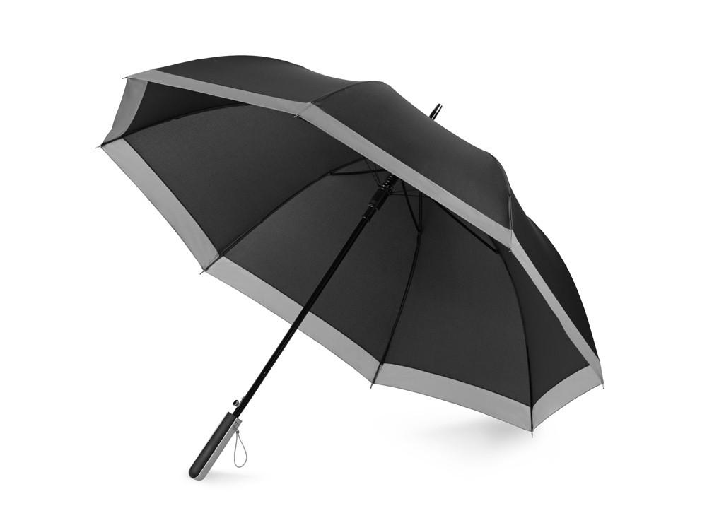 Зонт-трость Reflect полуавтомат, в чехле, черный (Р)