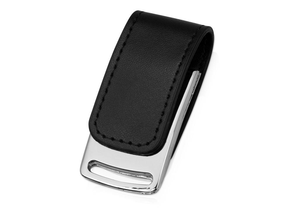 Флеш-карта USB 2.0 16 Gb с магнитным замком Vigo, черный/серебристый