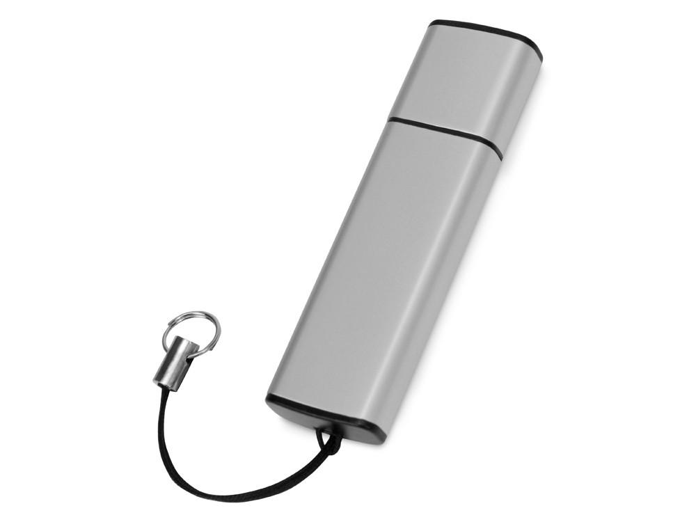 Флеш-карта USB 2.0 16 Gb металлическая с колпачком Borgir, стальной
