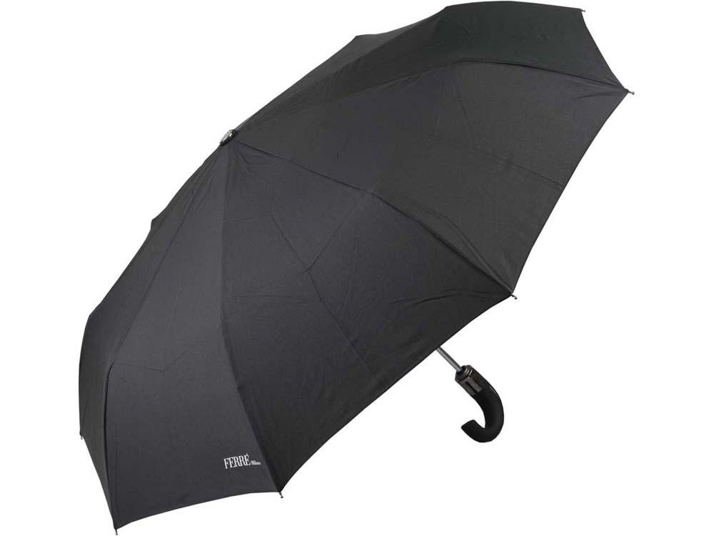 Зонт складной автоматический Ferre, черный (Ou)