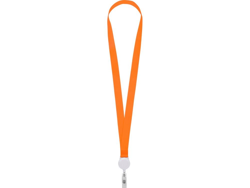 Ланьярд с ретрактором, оранжевый