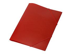 Папка формата А4 на резинке, красный