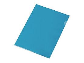 Папка-уголок прозрачный формата  А4 0,18 мм, синий глянцевый