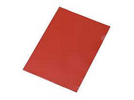 Папка-уголок прозрачный формата А4  0,18 мм, красный глянцевый