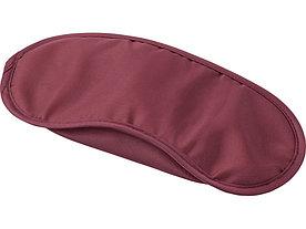 Маска для глаз Travel из нейлона (190T) с двойными резинками, бордовый