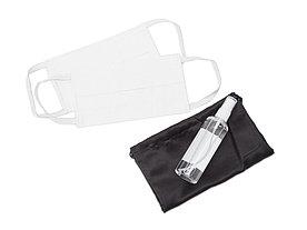 Набор средств индивидуальной защиты в сатиновом мешочке Protect Plus, белый