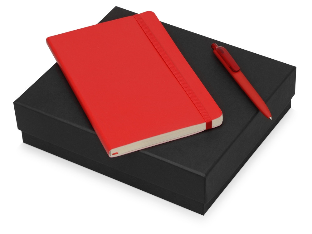 Подарочный набор Moleskine Indiana с блокнотом А5 Soft и ручкой, красный