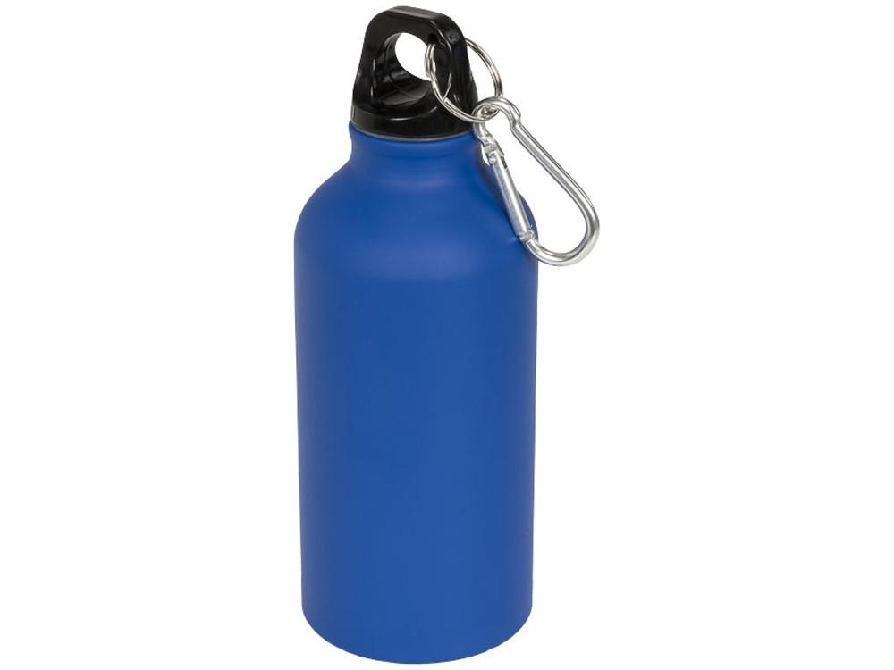 Матовая спортивная бутылка Oregon с карабином и объемом 400 мл, синий