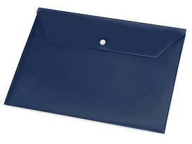 Папка-конверт А4 с кнопкой, синий