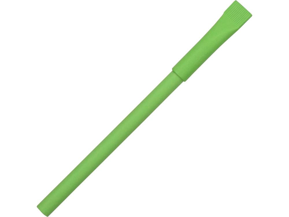 Ручка картонная с колпачком Recycled, зеленое яблоко