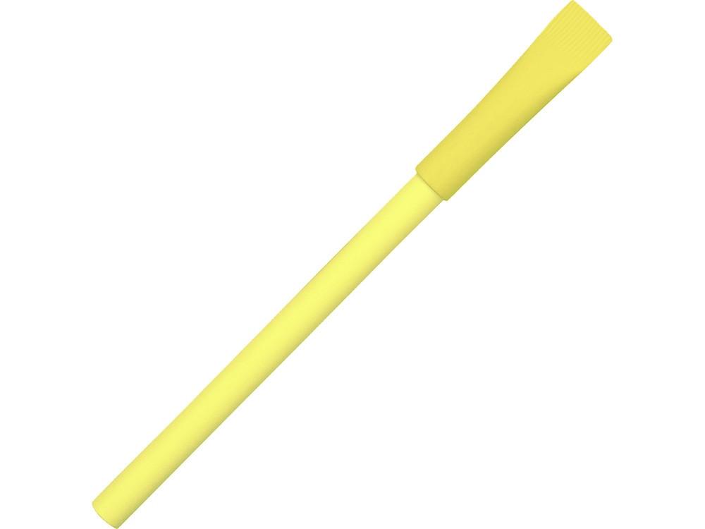 Ручка картонная с колпачком Recycled, желтый