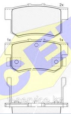 Тормозные колодки YOTO G-007(MD 5066M(REMSA 325.02)
