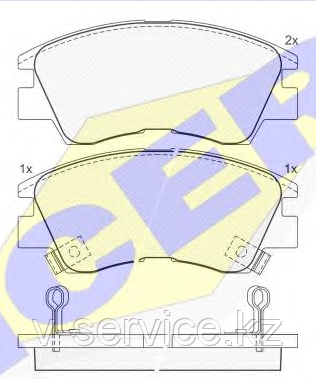 Тормозные колодки YOTO G-010(MD 6018M(REMSA 275.02)