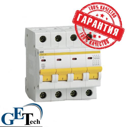 Автоматический выключатель ВА47-29 4Р (4ф) 63А IEK