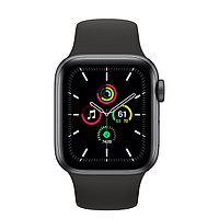 Смарт Часы Apple Watch SE GPS, 44mm Space Gray Aluminium Case with Black Sport Band