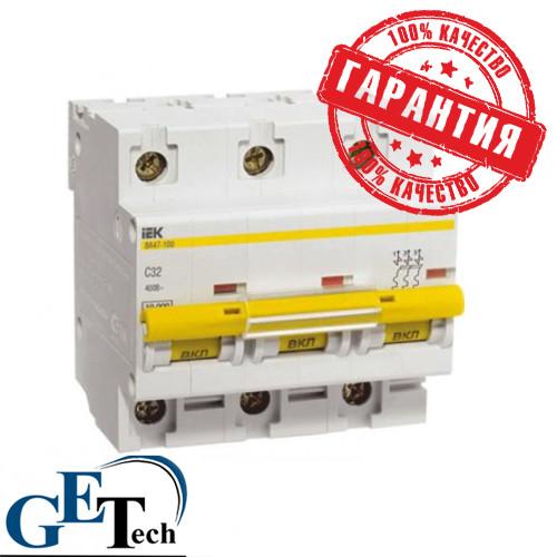 Автоматический выключатель ВА 47-100 3Р 100А IEK (ИЭК)