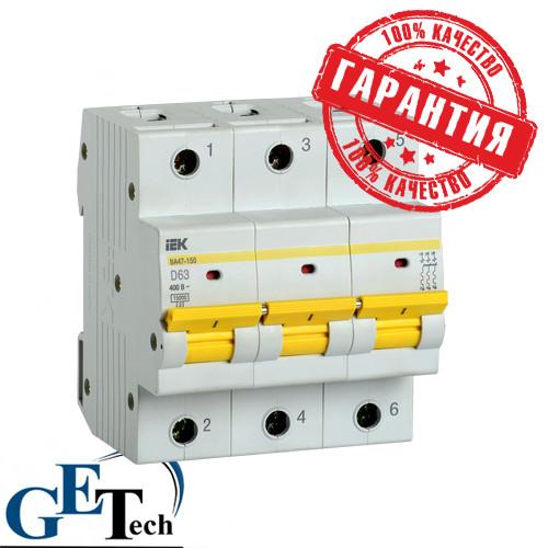 Автоматический выключатель ВА47-150 3Р 100А 15кА IEK (ИЭК)